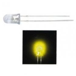 LED 5 mm. trasparente luminoso Giallo 100 pezzi