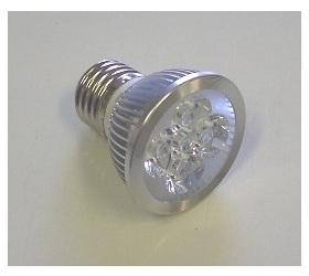 Lampadina LED MR16 4x1 W Bianchi Caldi