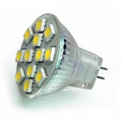 Lampadina 12 LED SMD 5050 GU5.3 MR11 2,4 W Bianchi Caldi