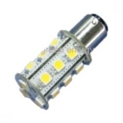 Lampadina BA15d a 18 LED SMD 5050 3,2 W Bianchi Freddi
