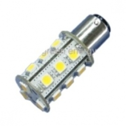 Lampadina BA15d a 18 LED SMD 5050 3,2 W Bianchi Caldi