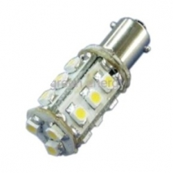 Lampadina BA9s a 15 LED SMD 5050 1,3 W Bianchi Caldi