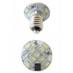 Lampadina E10 a 12 LED SMD 3014 1,5 W Bianchi Freddi