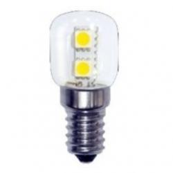 Lampadina E14 peretta 6 LED SMD 5050 Bianchi Caldi 1 W - 21021