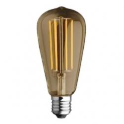Lampadina E27 bulbo Edison a filamento LED 6 W Bianchi Caldi