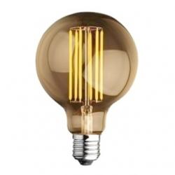 Lampadina E27 globo Edison a filamento LED 6 W Bianchi Caldi