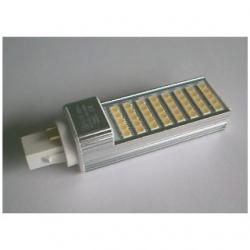 Lampada G24 PLC 4 PIN a 40 LED SMD 5050 8 W Bianchi Caldi