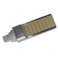 Lampada G24 PLC 2 PIN a 40 LED SMD 5050 8 W Bianchi Caldi