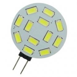 Lampadina G4 a 12 LED SMD 5730 Bianchi Freddi 2,5 W