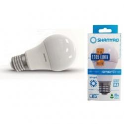 Lampadina LED A60 goccia 15 W E27 smarline Bianco Freddo