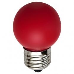 Lampadina LED Bulbo G45 E27 4W Rossa