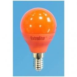 Lampadina LED Bulbo G45 E14 4W Rossa