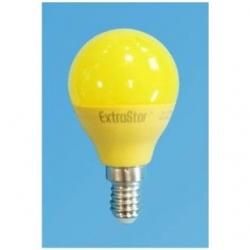 Lampadina LED Bulbo G45 E14 4W Gialla