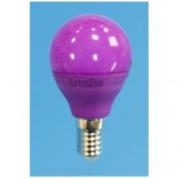 Lampadina LED Bulbo G45 E14 4W Viola