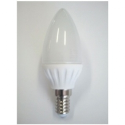 Lampadina LED C37 oliva E14 3 W Bianco Caldo