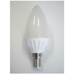 Lampadina LED C37 a oliva E14 3 W Bianco Freddo