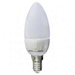 Lampadina LED C37 a oliva E14 5,5 W Bianco Freddo
