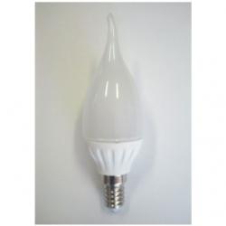 Lampadina LED CW37 a fiamma E14 3 W Bianco Caldo