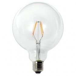 Lampadina LED G125 globo a filamento 4,5 W Bianco Caldo Dimmerabile