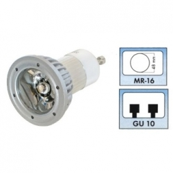 Lampadina LED MR16 GU10 230 V 3 W Bianco Caldo