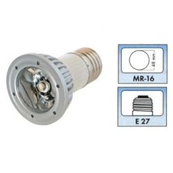 Lampadina LED MR16 E27 230 V 1 W Bianco Caldo