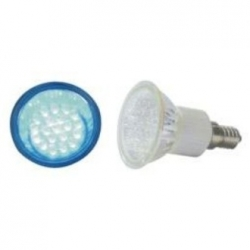 Lampadina LED MR11 E14 230V 7 LED Blu