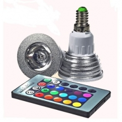 Lampadina LED MR16 3 W E14 RGB con telecomando