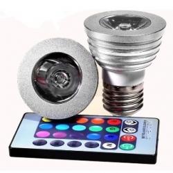 Lampadina LED MR16 3 W E27 RGB con telecomando