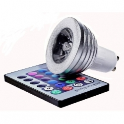 Lampadina LED MR16 3 W GU10 RGB con telecomando