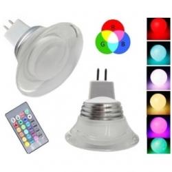 Lampadina LED MR16 3 W GU5.3 RGB con telecomando