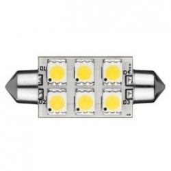 Lampadina Spade a 6 LED SMD 5050 1,5 W Bianchi Freddi