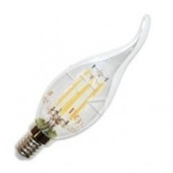 Lampadina a fiamma E14 a filamento LED SMD 4 W Bianco Caldo - 4302