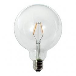 Lampadine LED G125 globo a filamento 2,5 W Bianco Caldo