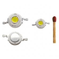 LED alta potenza 3 W Bianco Freddo set 5 pezzi