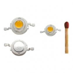 LED alta potenza 3 W Bianco Caldo set 5 pezzi