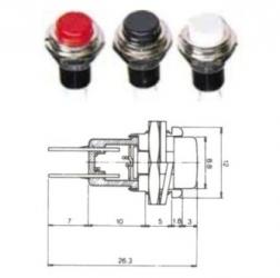 MS-351 - Interruttore miniatura a pulsante da pannelllo con autoritorno.