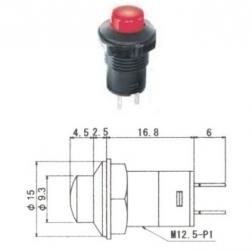 MS-358 - Interruttore a pulsante da pannelllo OFF-ON.