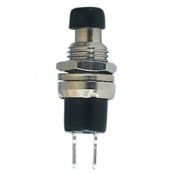 Mini Interruttore a pulsante da pannello contatto chiuso Nero