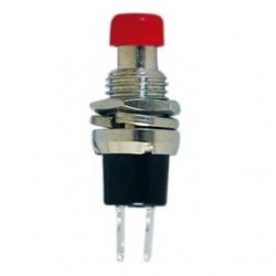 Mini interruttore a pulsante da pannello contatto aperto Rosso