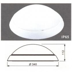 Plafoniera a LED con kit d'emergenza Bianco Naturale - PLF22EM4K