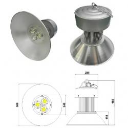 Riflettore industriale a 3 LED di potenza 120 W Bianco Naturale