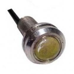 Segnalatore luminoso a LED metallico 12 V Bianco Freddo 1,5 W