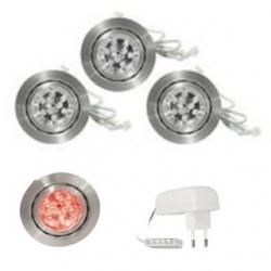 Set 3 Spot a 9 LED ROSSI