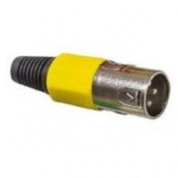 Spina microfonica volante XLR Gialla