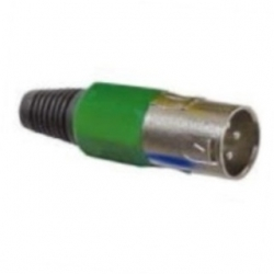 Spina microfonica volante XLR Verde