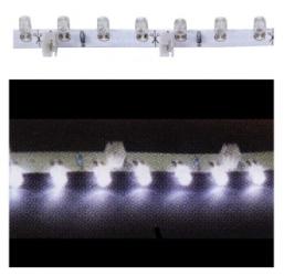 Striscia luminosa flessibile 18 LED laterali BIANCHI FREDDI 30 cm.