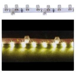 Striscia luminosa flessibile 18 LED laterali GIALLI 30 cm.