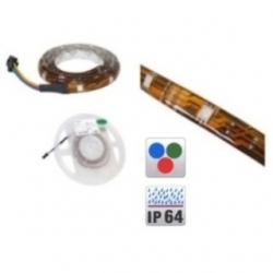 Striscia luminosa flessibile 30 LED SMD RGB siliconata 1 mt.