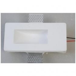 Supporto in gesso da parete a scomparsa per lampade LED - MW 3009