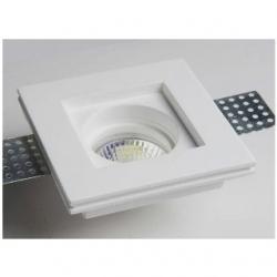 Supporto in gesso quadrato da incasso per lampade LED - MC 9222